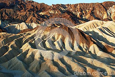 Sunrise At Zabriskie Point, Death Valley Stock Photography.