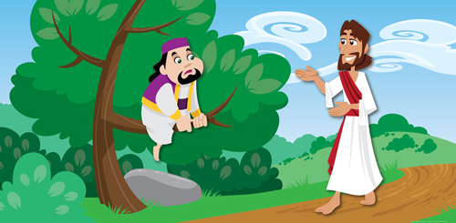 Clipart jesus and zacchaeus.