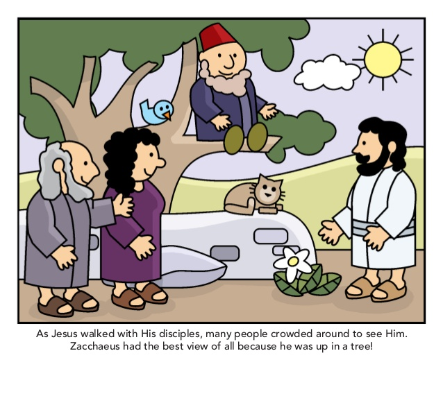 Zacchaeus meets jesus slideshow.