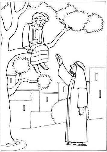 Zacchaeus Coloring Pages For Preschoolers.