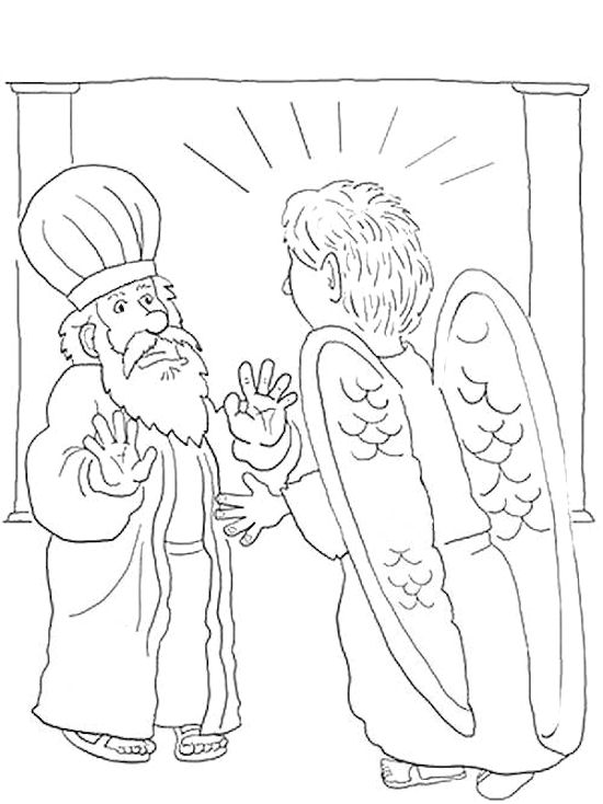 Zechariah visions coloring pages.