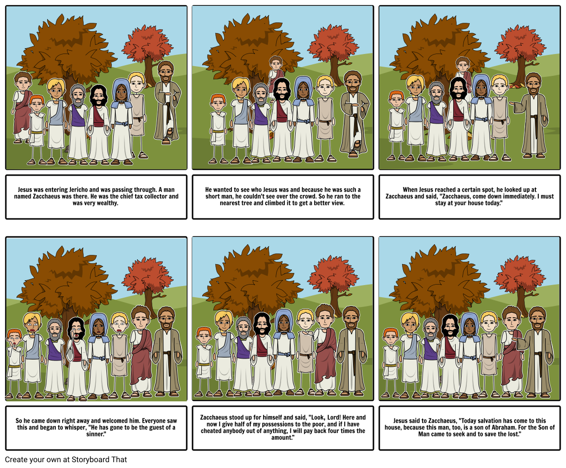 Zacchaeus the Tax Collector Storyboard by fab50fb5.