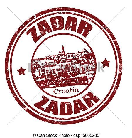 Vector of Zadar stamp.