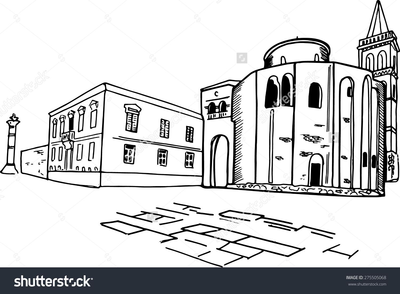 Church St Donat Zadar Croatia Vector Stock Vector 275505068.