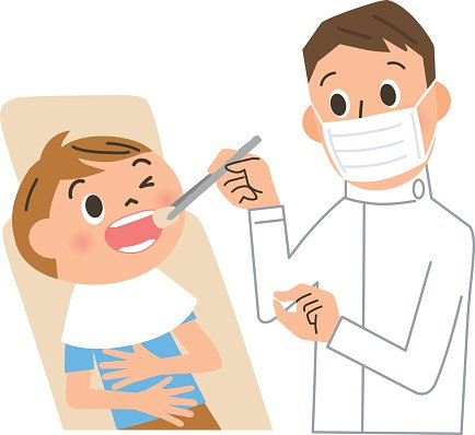 dentist and patient Clipart Image.