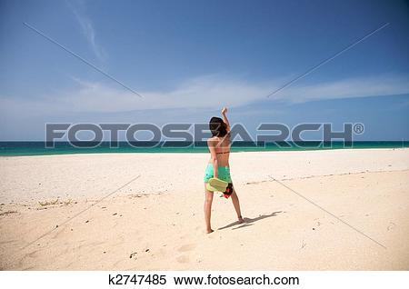Stock Image of barefoot woman dance at beach k2747485.