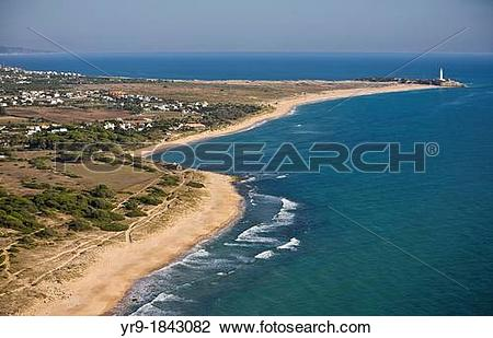 Stock Photo of Zahora beach Caos de Meca with Trafalgar's.