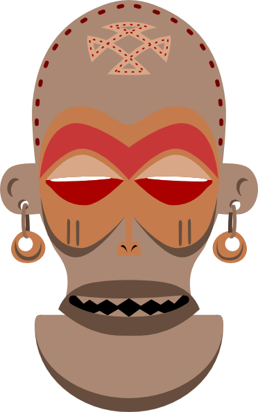 African Mask. Chokwe, Angola, Zaire Clip Art at Clker.com.