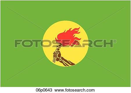 Clipart of zaire flag 06p0643.