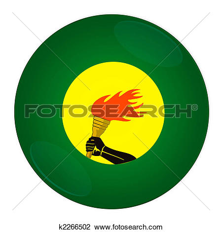Clip Art of Zaire button with flag k2266502.