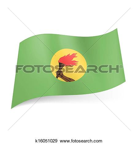Clip Art of State flag of Zaire. k16051029.