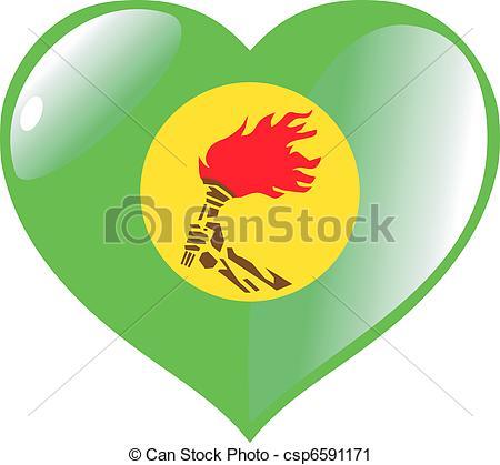 Vector Clip Art of Zaire in heart csp6591171.
