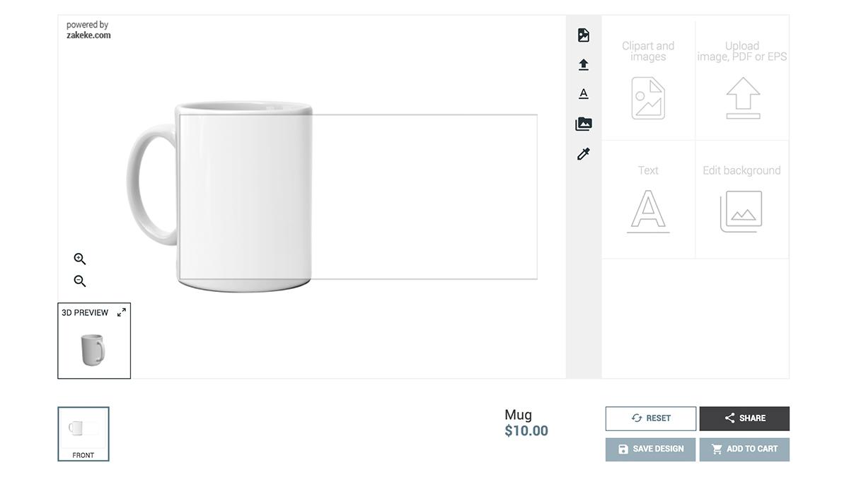 Zakeke Interactive Product Designer for WooCommerce.