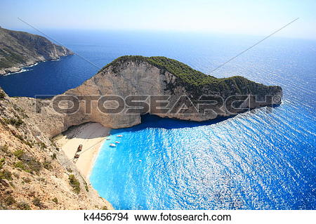 Stock Photo of Aerial view on Zakynthos Greece k4456794.