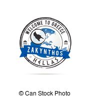 Vector Clip Art of Zakynthos.