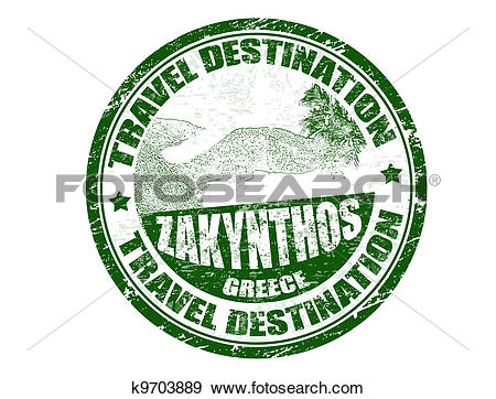 Clip Art of Zakynthos stamp k9703889.