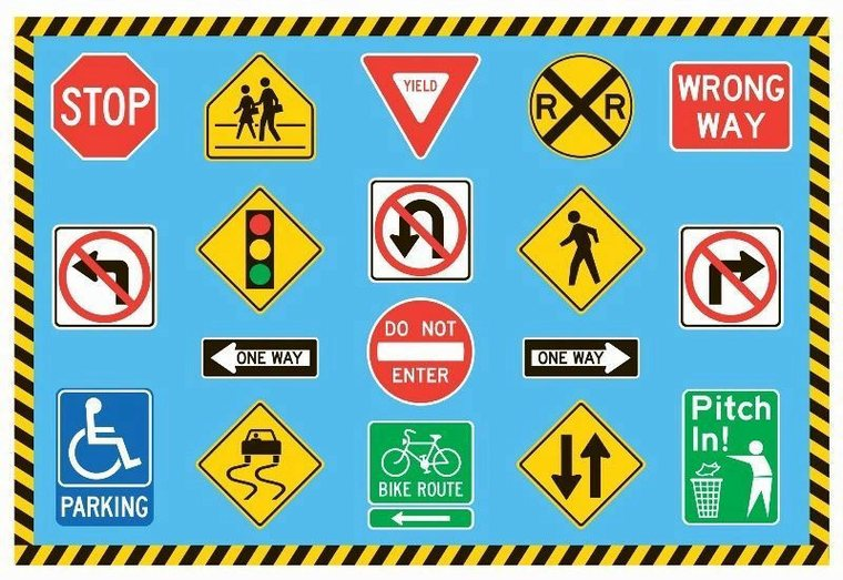 Time Road Signs Clip Art.