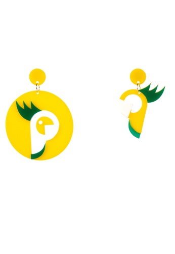 Joanique Parrot Earrings.