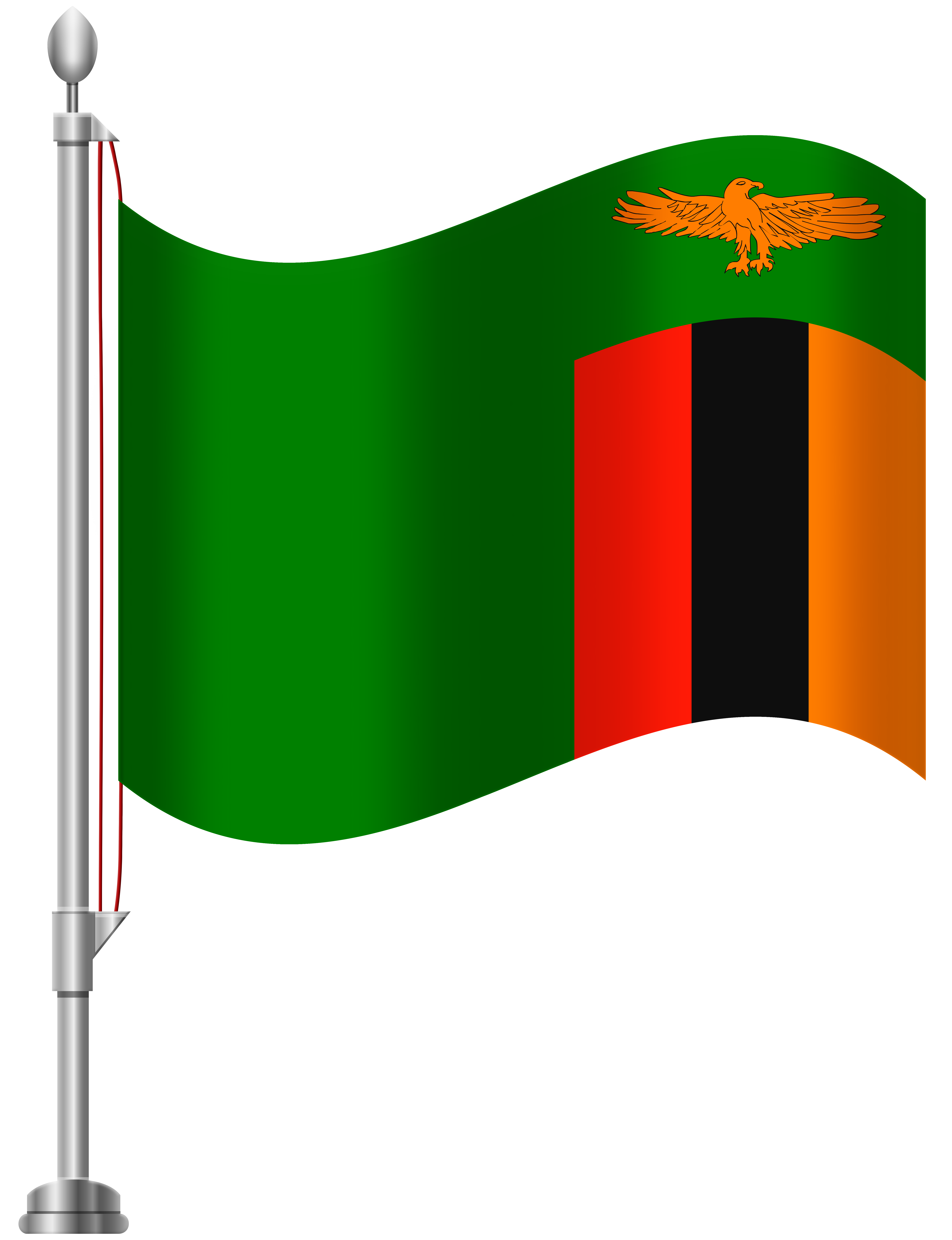 Zambia Flag PNG Clip Art.