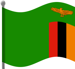 Zambia Flag Waving Clip Art Download.