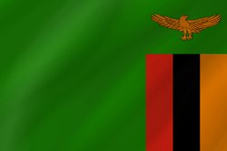 Zambia flag clipart.