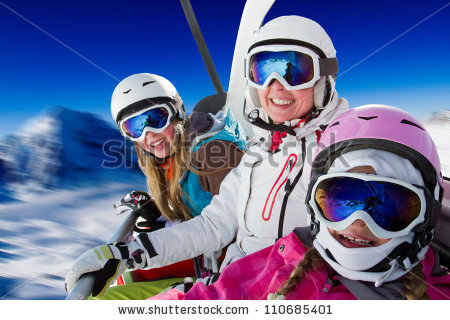 Skiing In The Alps Stock Photos, Royalty.