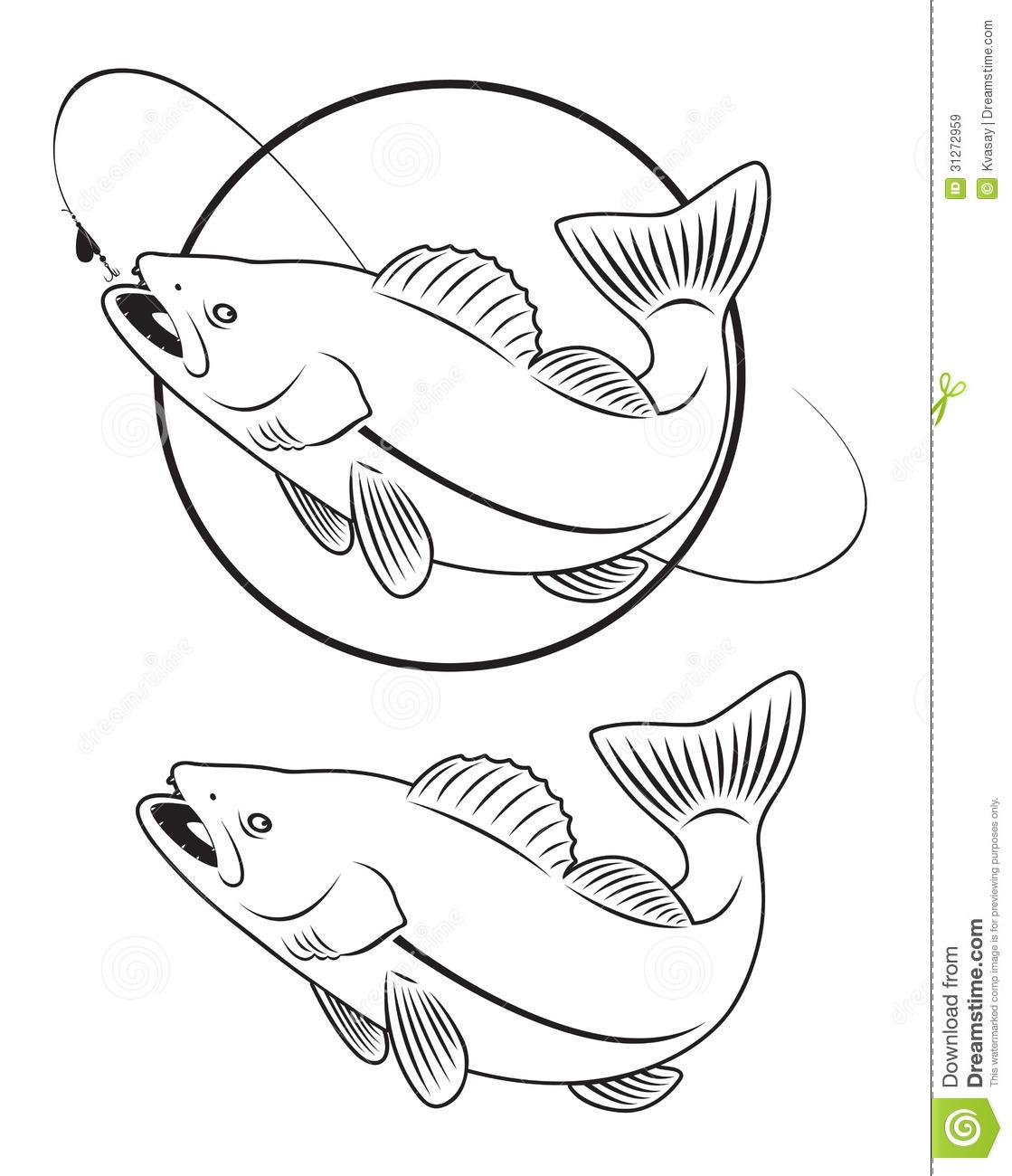 Walleye clip art.