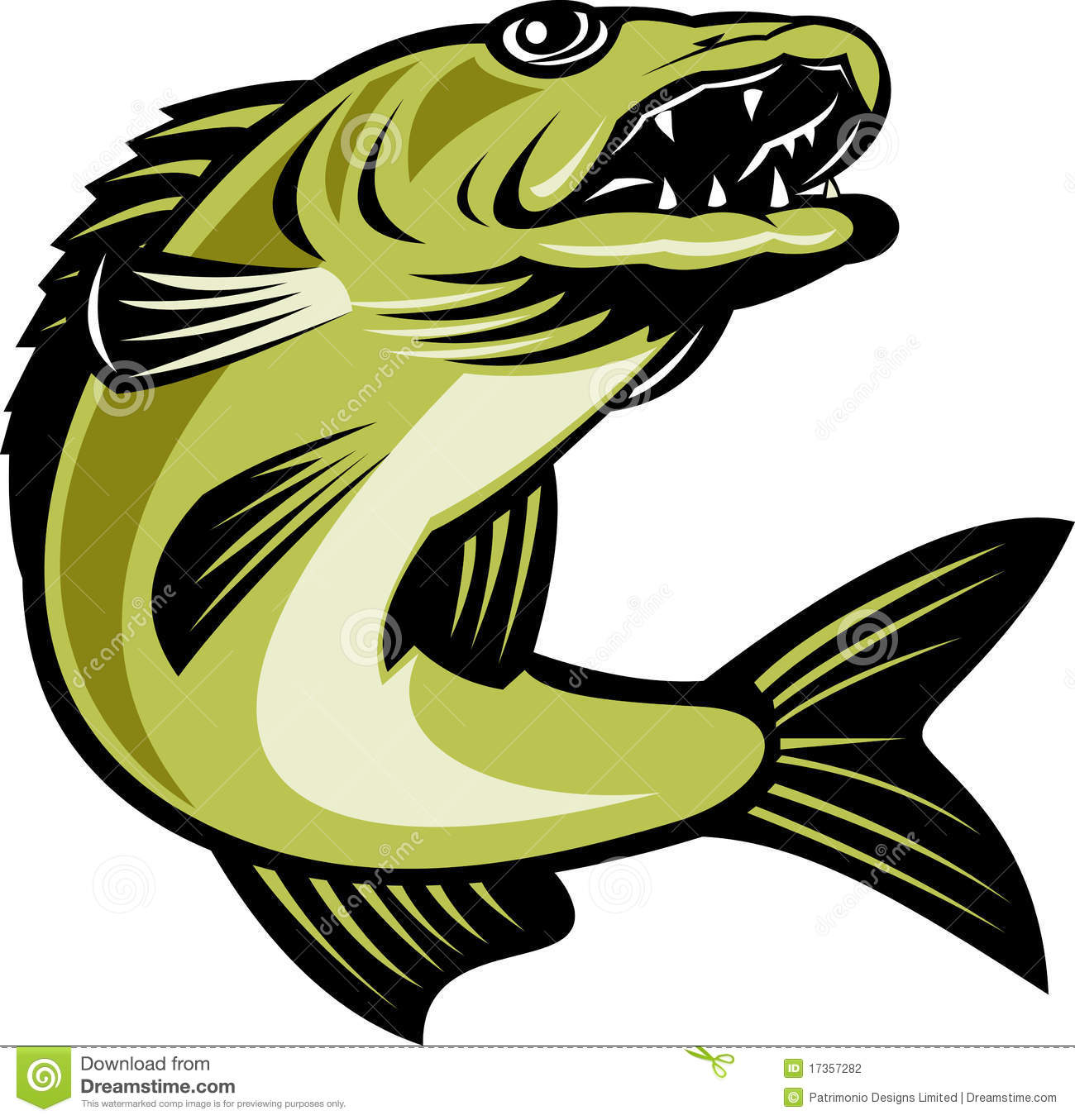 Jumping Fish Clipart.