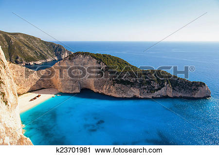 Stock Photography of landscape of zante island k23701981.
