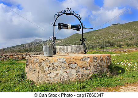 Stock Photo of An old Venetian well, Zante island.