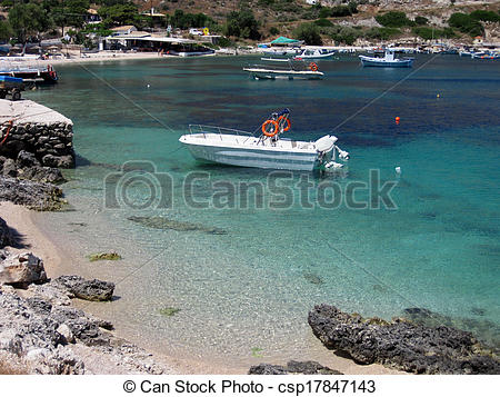 Stock Photo of St Nicholas Port, Zante island.