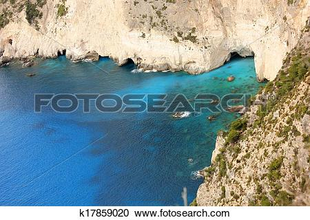 Stock Photography of Keri Cape, Zante island, South, Gre k17859020.