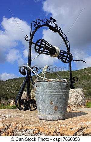 Stock Images of An old Venetian well, Zante island.