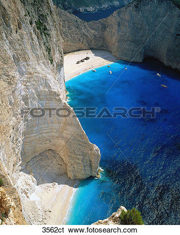 Stock Images of Greece, Zante, Wreck Beach. 3562ct.