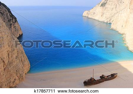 Stock Photography of SHIPWRECK at Zante, Greece k17857711.