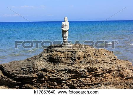 Stock Photography of Mermaid statue, Zante island k17857640.