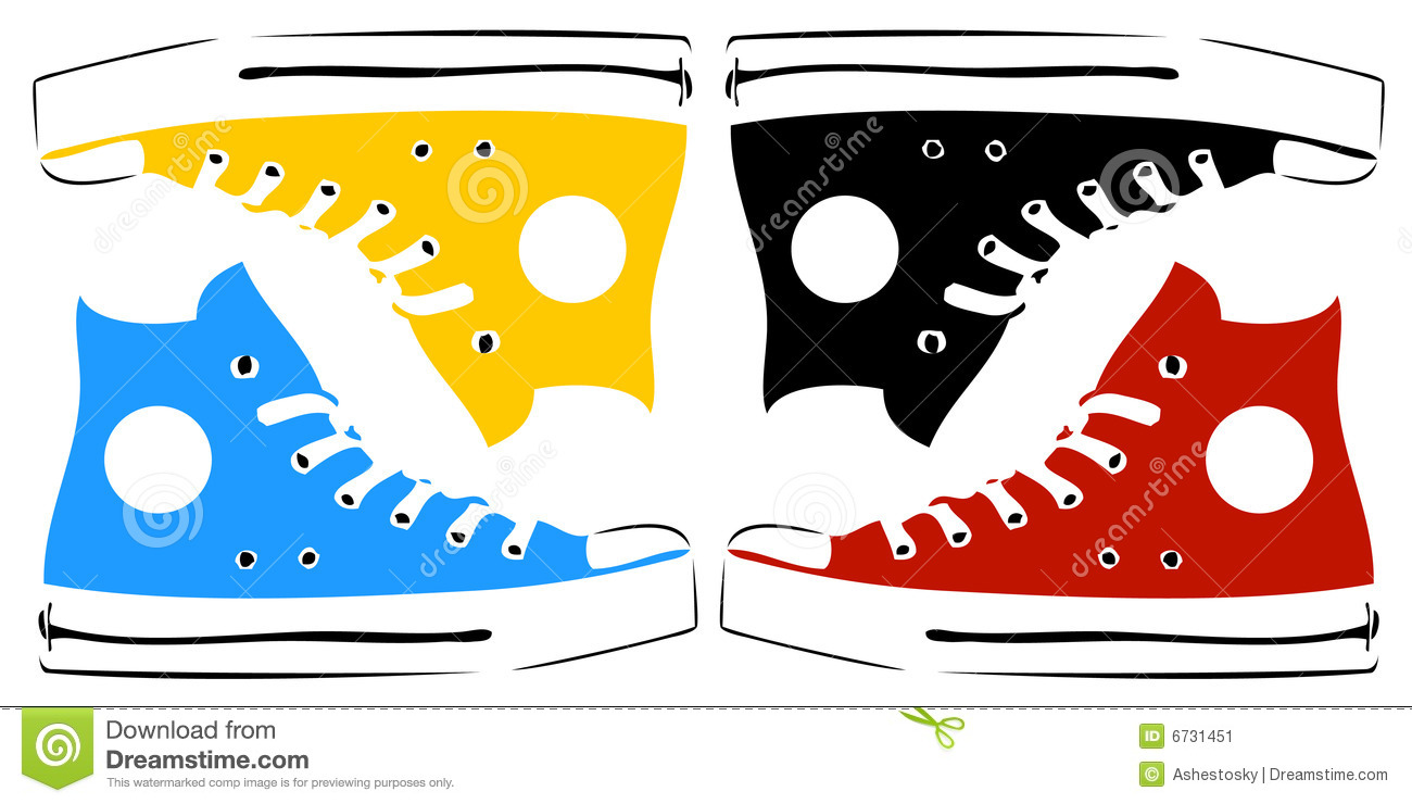 Clipart zapatillas.