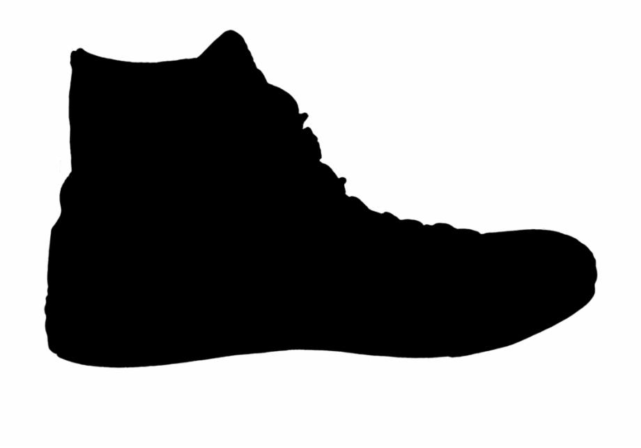 Zapato Sneaker Silueta Negro Shoe Silhouette.