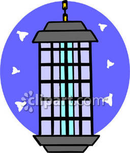 Bug Zapper Royalty Free Clipart Picture.