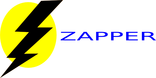 Zapper Logo Reversed Clip Art at Clker.com.