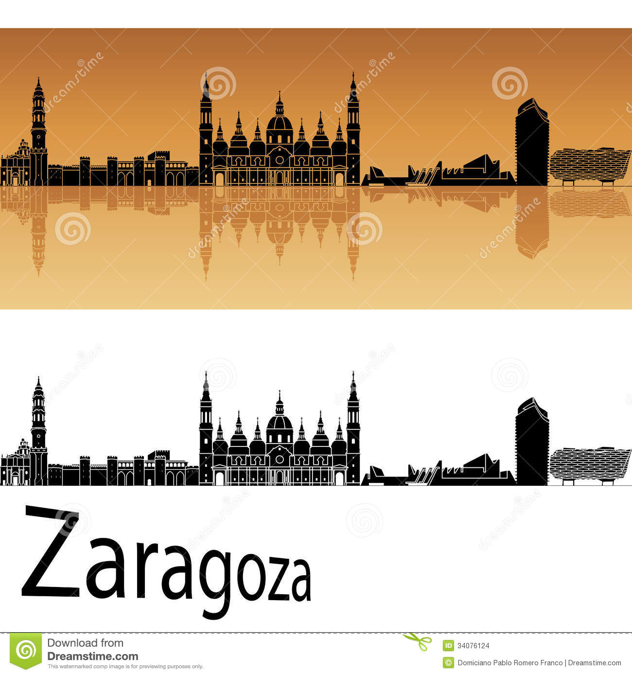 Zaragoza Stock Illustrations.