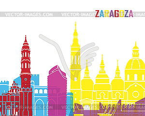 Zaragoza skyline pop.
