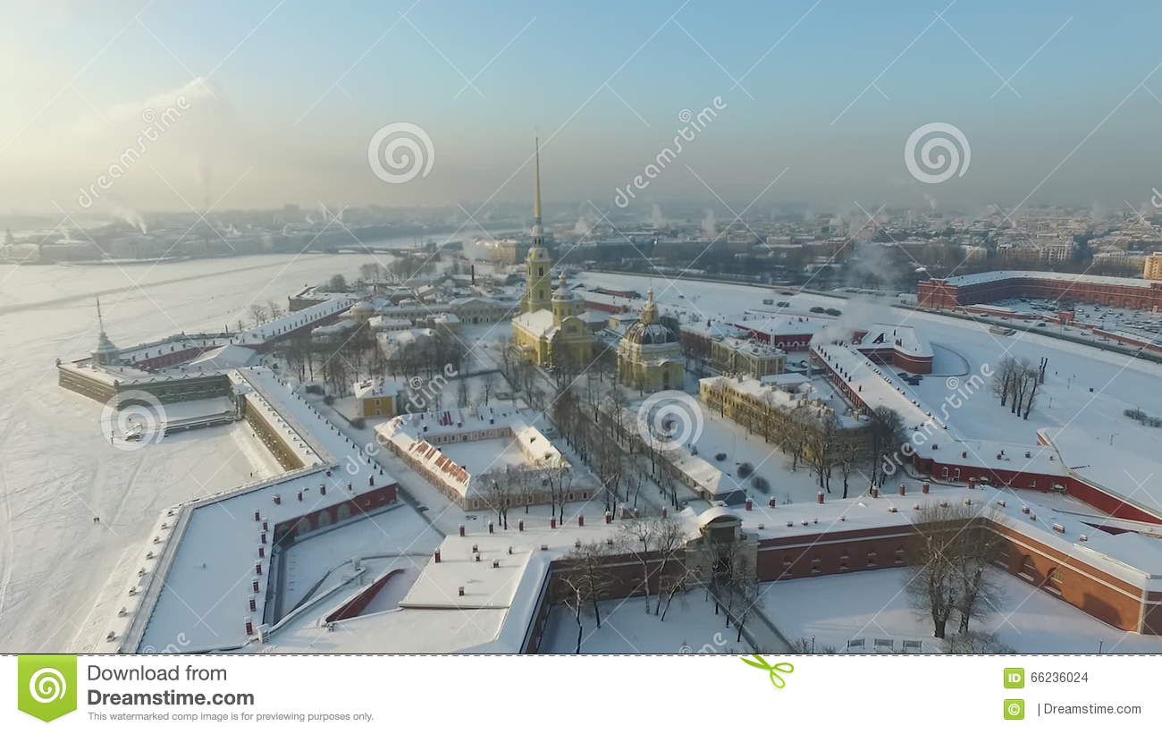 Peter And Paul Fortress, St Petersburg Stock Footage.