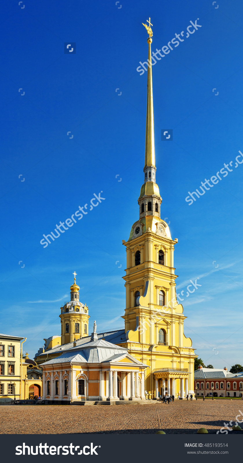 Peter Paul Cathedral Peter Paul Fortress Stock Photo 485193514.