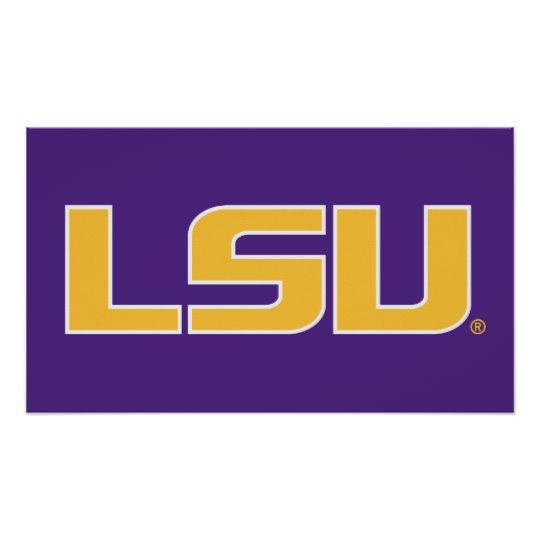 LSU Logo Poster.