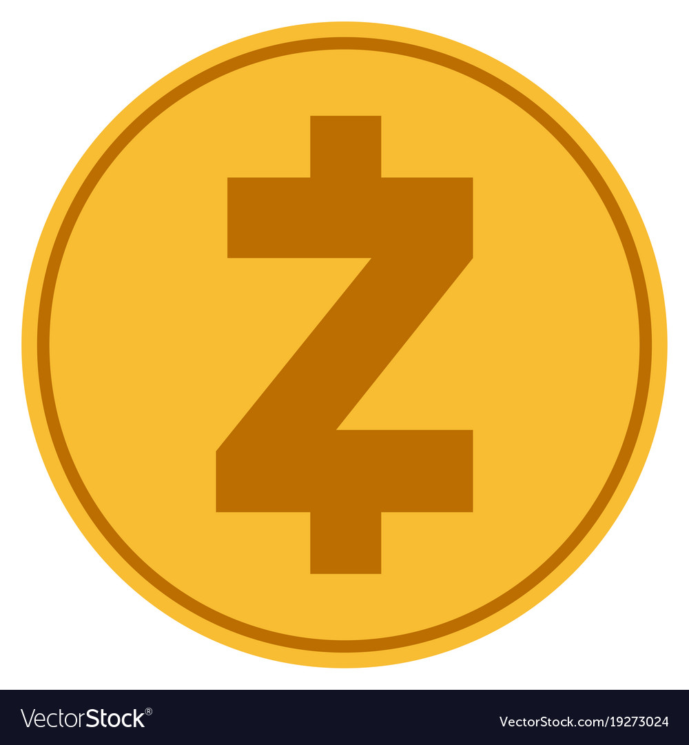 Zcash gold coin.