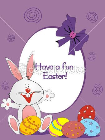 Zajączek z kolorowymi jajkami — Ilustracja stockowa #2487382.
