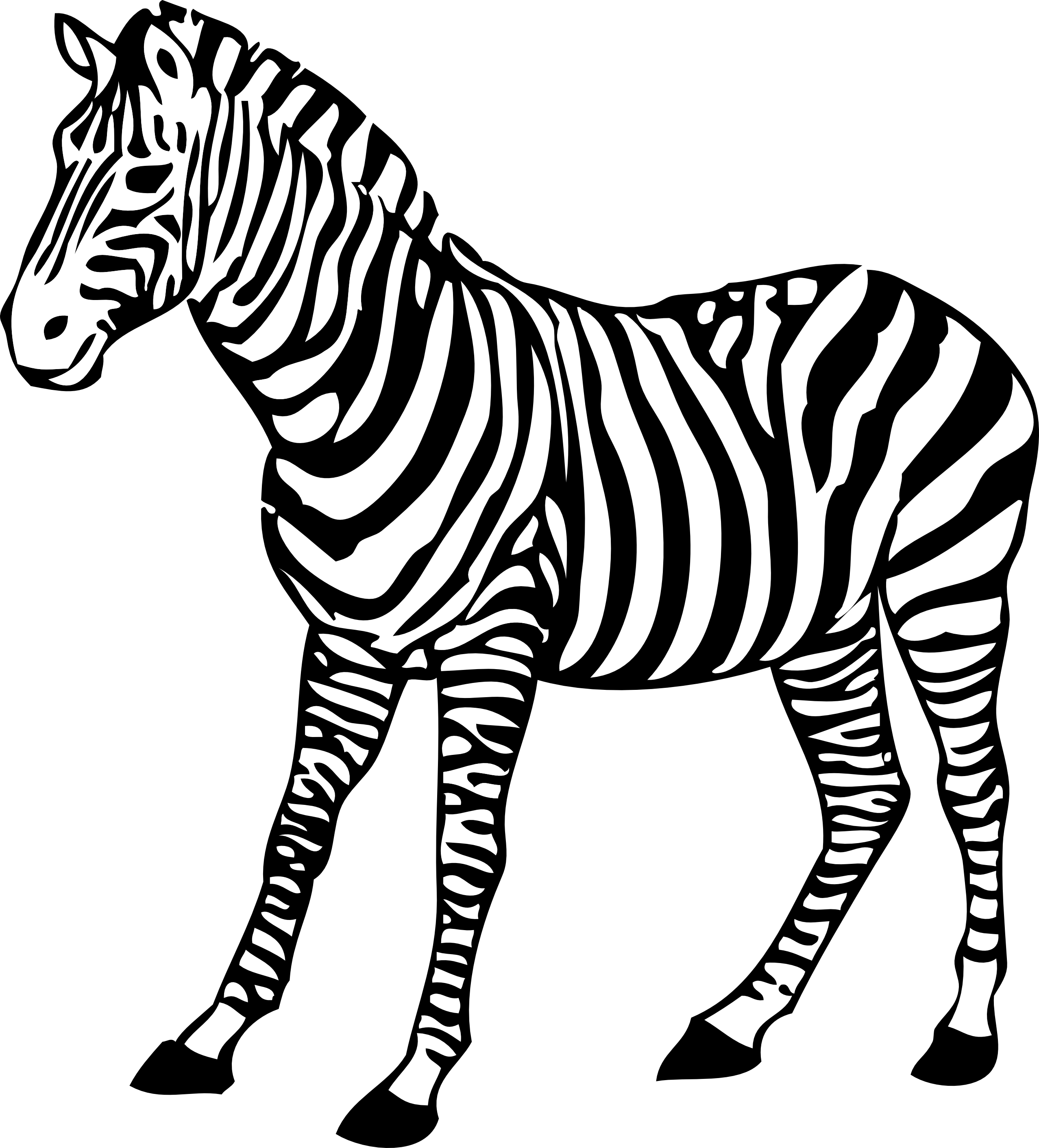 Zebra And Giraffe Clipart.