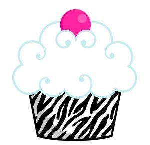 Zebra Birthday Cake Clip Art.