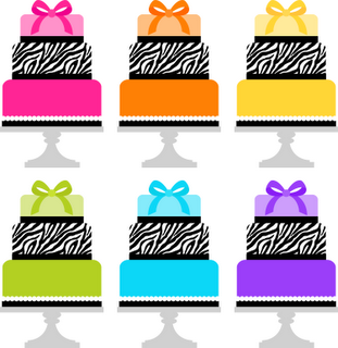 zebra birthday cakes to match the papers!.